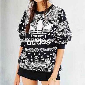 Cute Adidas Paisley Bandana Sweatshirt Small